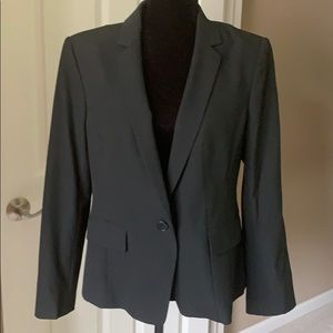 Ann Taylor Black Suit Jacket, 1 Button, Size 12